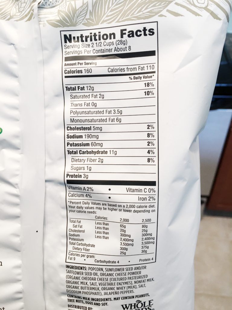Whole Foods 365 Spicy Jalapeno White Cheddar Popcorn
